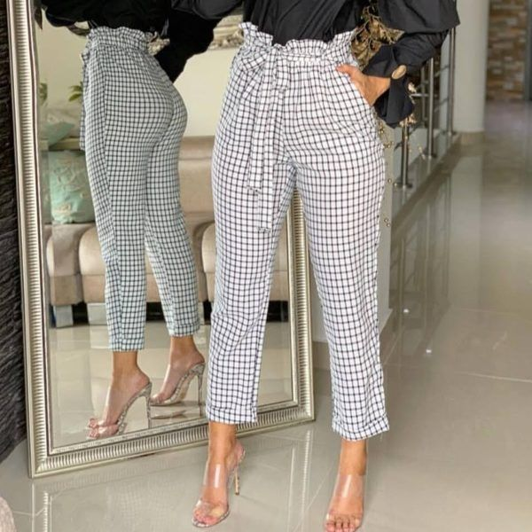 pantalón culotte a cuadros