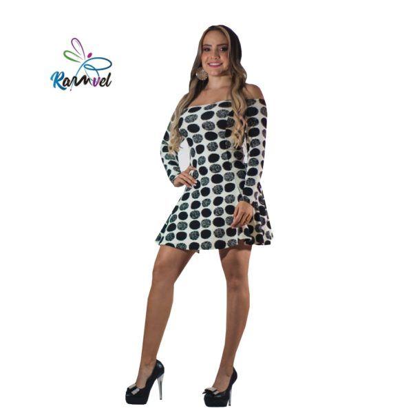 Vestido mezclilla licrada con puntos